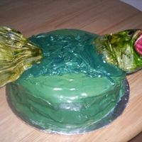 Bass Fish Birthday Cake This was for a friends birthday. It was fun to make but I could see lots of ways to improve it after we were done!