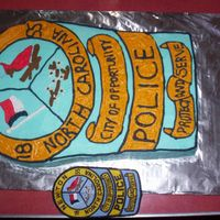 Police Badge I made this for my husbands chief for his birthday
