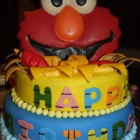 Elmo Birthday Cake  This was made out of the Wilton 2007 Yearbook. It was a huge hit for my 2 year old twin sons and of course everyone else. Elmo's mouth...