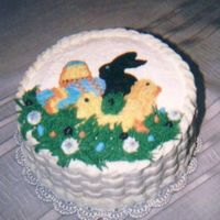 Easter Basket I did this for a family get together. I used cookie cutters to make outline the animals and eggs, then used star technique to fill in. I...