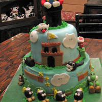 Mario Nintendo all edible.....figures made out of fondant and some fondant mixed with cmc powder....
