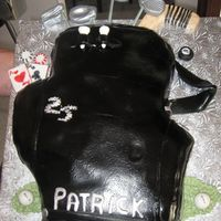 All Sport - Hockey, Golf, Poker Pat likes all 3 sports, so incorporated it in golf bag