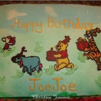Winnie The Pooh And Friends Pastry Pride icing with chocolate transfers