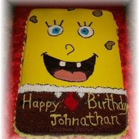 Spongebob Made for my grandson's 2nd birthday. 1/4 sheet cake, all BC.