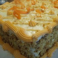 Carrot Cake Carrot Cake decorated with carrot and nuts!!