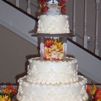 Fall Wedding  I did this cake for my sister at the end of October. They decided to get married in the fall and wanted me to do thecake. I thought a fall...