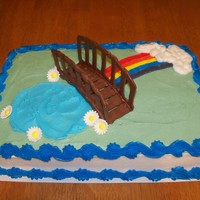 Girl Scout Bridging Cake 2  This is the newest Girl Scout bridging cake I did. Girl were bridging from Daisies to Brownies. This is just a 9 x 13 sheet cake with...