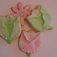 Tulip Cookies In Strie Fondant