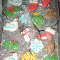 Christmas Cookies I absolutely detest the way Royal Icing tastes, and I was making these cookies for a real icing lover - so I made up my own icing that...