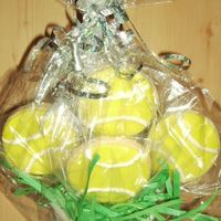 Tennis Cookie Bouquet Made these for my Secret Pal's birthday. He's a big tennis player, and they were an office hit!