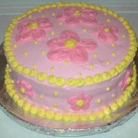 Side View Of Floral To Match Hello Kitty Side view of the cake. Not bad for a 15 minute job.