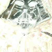 Vader Cookie I made 1 cookie in the shape of Darth Vader. I didnt have a cookie cutter, so I molded it by hand and it turned out perfect. I made rolled...