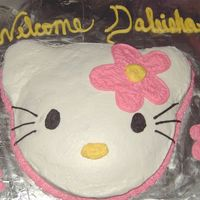 Hello Kitty This is a cake I did for a baby shower, although it would work for a child's birthday.