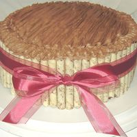 Pirouette Cake I made this for an office potluck, but it could really be for any occasion - birthday, groom's cake, or just because. This is a french...