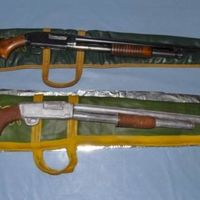 Solid Chocolate Carved Rifle & Case Cake 2