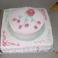 Wed Take One this is a pic of the last minute cake I made for a patient's wedding at the hosp. the night before the ceremony...sort of a last...