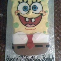 Sponge Bob I can't even begin to tell you what a headache this cake was...never again :-)