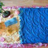 Shellby's Cake This is my first beach cake and I love it!!! It was a lot of fun....Thanks for looking