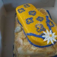 Nancy's Bday First flip flop - really enjoyed this, even though it was a sculped cake :) Thanks ccers for your insperation!All bcd!TFL