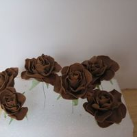 Gumpaste Roses   I did these roses for a wedding cake that I have coming up!Any tips would be great! Be completely honestTFL