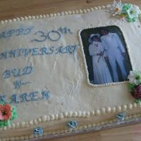 First Anniversary Cake I did not like the way this one turned out!It looked a lot better in my head;)TFL anyway :)