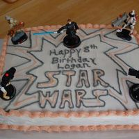 Star Wars Cake I originally found this cake on www.Leopolds.com and my son asked me to make that for his birthday. The coloring is a bit different on mine...