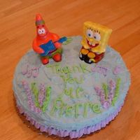 "Teacher Appreciation Cake 2 My younger son's teacher is a huge SpongeBob fan, so I made this cake for him during Teacher Appreciation week. It is a 2 layer 9""..."