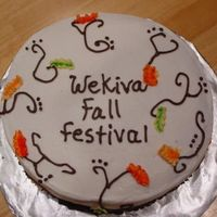 Fall Festival Cake Chocolate cake with Buttercream Icing
