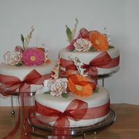 Bridal Shower Fondant covered, Gumpaste flowers. I really hope they liked it. What do you think?
