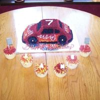 Lane's Car Cake first time doing a car cake. thought it came out pretty well. Lane loved it, and that's what is most important to me. thanks for...