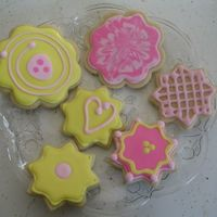 Spring Cookies Did these just for fun and to try Antonia74's icing for the first time-I like the icing-easy to work with but missed the 'shine&#...