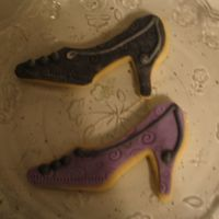 Fondant Shoes As you can see I drew 'inspiration' from the Flour Pot! FIrst time with fondant...