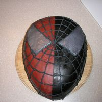 Spiderman/venom i used red mmf and then airbrushed the black on. the eyes are made with luster dust. and the webbing is buttercream.