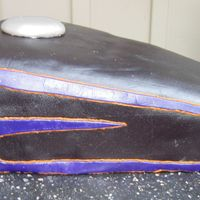 Harley Gas Tank this is a replica of the customers own sportster fuel tank. its done all in mmf, the scallops were a bit of a trick to get on it, but i...