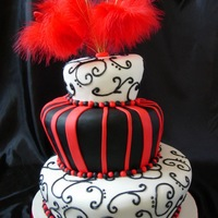 Red & Black Wonky Wedding This has to go up a VERY steep cobblestone road tomorrow morning. Eeek!