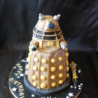 Dalek Birthday Cake My son's birthday cake this year. He asked for a Dalek & sonic screwdriver.