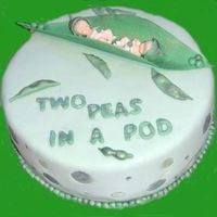 Two Peas In A Pod Twins shower, fun cake