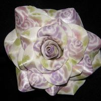 Lavender Stensiled Rose try out for the martha stewart show