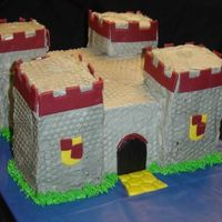 Castle Cake Made for a friend's 6-year old nephew. Modeled after a pitcure she gave me of a toy castle he wanted for his birthday. Buttercream...