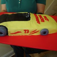 Racing Go Kart Birthday cake I made my nephew. Chocolate cake covered all in fondant. He races go-karts, so I wanted to make a replica of his cart. I used...