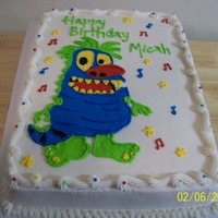 Little Monster Cake all buttercream