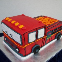 Buttercream Firetruck All buttercream!