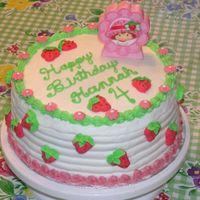 Strawberries For Strawberry Shortcake This was for my daughter's 4th birthday. The flowers and strawberries are royal. The rest is BC.
