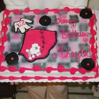 Fifties Cake This was for a little girls 10 th birthday. She wanted something fifties, so I printed a picture of a poodle skirt, and freehanded the...