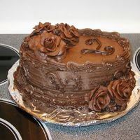 Chocolate!!!! I made this on the spur of the moment for my sister and her husband's second anniversary. It's more of a practice cake than...