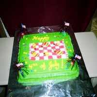 Fourth Of July Picnic Cake This was done for hubby's friends at work. Every once in a while, I like to treat them to something yummy before a holiday. There are...