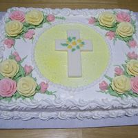 Sympathy For a family that just lost their mother. All buttercream icing on 1/2 sheet white cake. Thanks for looking!!!