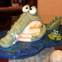 Croc & Friend Birthday Cake for my Sister-In-Law