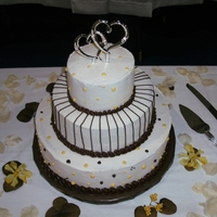 Brown And Yellow Wedding all buttercream