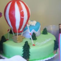 Hot Air Balloon My first attempt of cake decorating